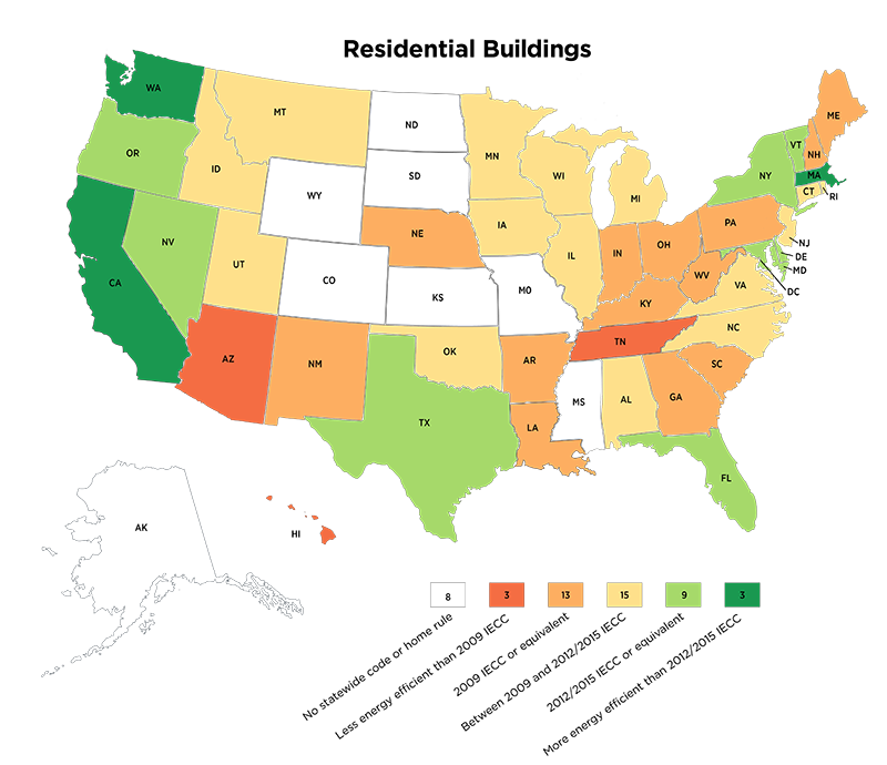 State Energy Codes Map