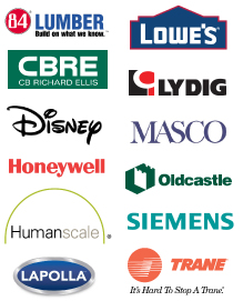 Everblue Clients 84 Lumber, Lowe's, CBRE, Lydig, Disney, Masco, Honeywell, Oldcastle, Siemens, Trane