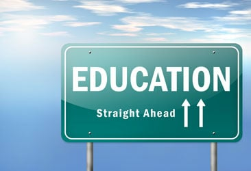 education sign image