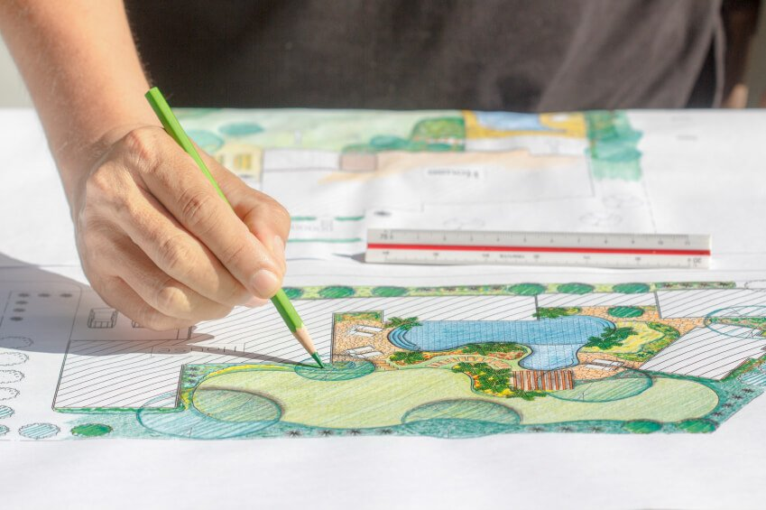 leed landscape architect drawing
