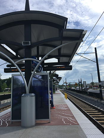 light rail stop