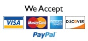 we accept credit, debit, and paypal