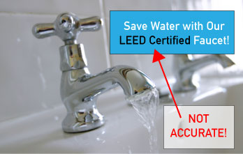 Example of false LEED product advertising