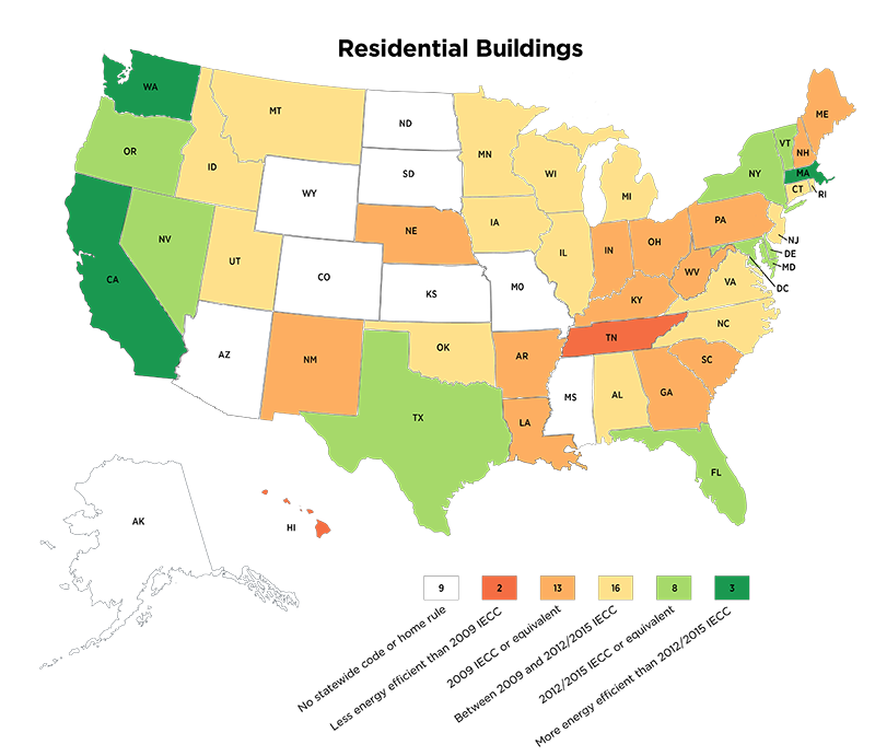 state energy code map
