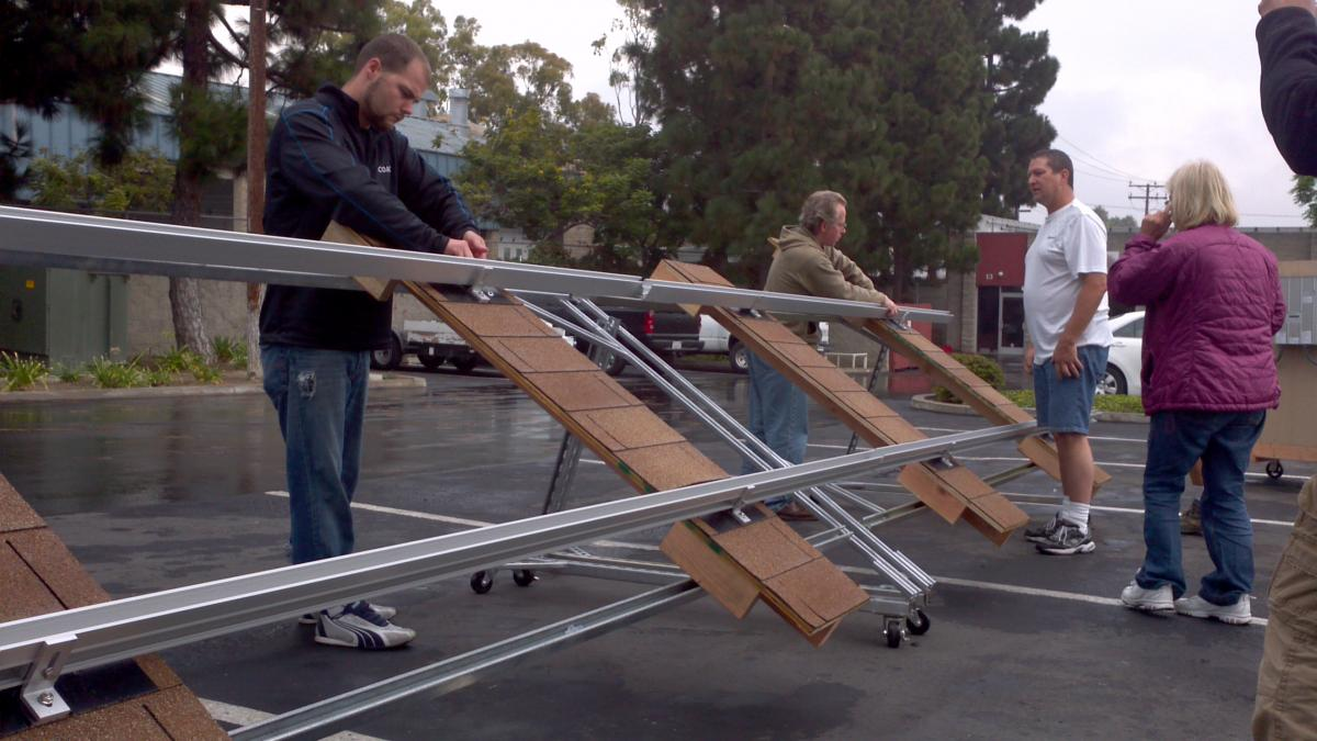 Solar training provides an opportunity to install solar panels