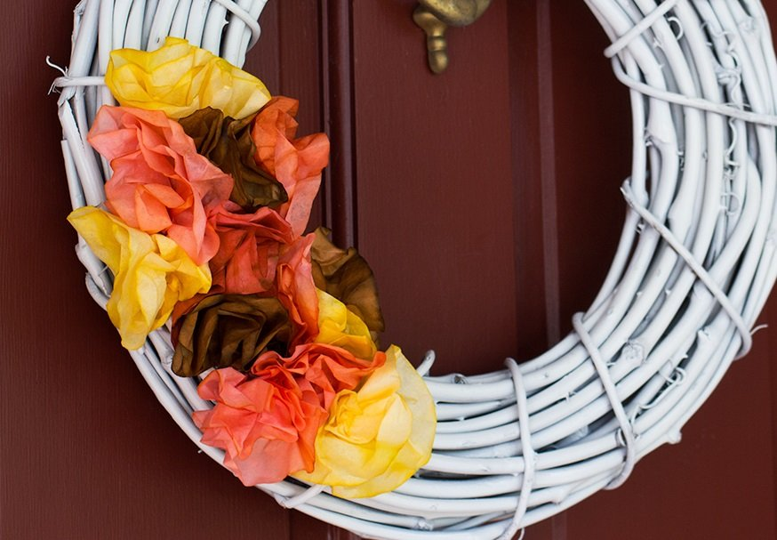 coffee-filter-fall-wreath
