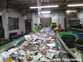 recycling facility sorting