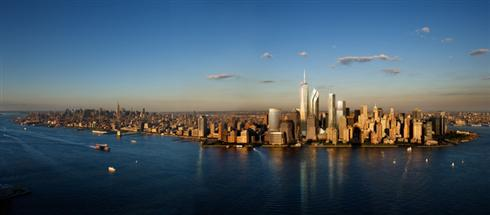 New York City Skyline with One World Trade Center