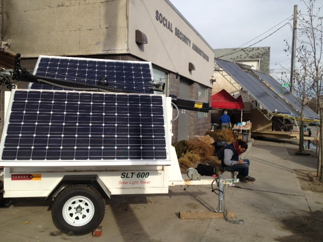 Greenpeace mobile solar lighting