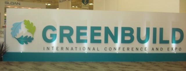 Greenbuild sign